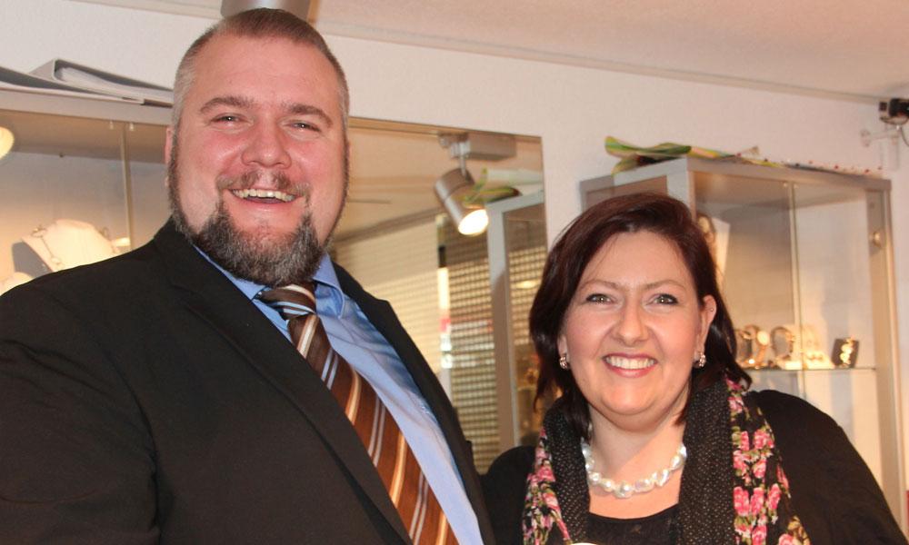 Ralph Muesenbeck und Myriam Schwarcz - Juwelier Schwarcz am Hochrhein