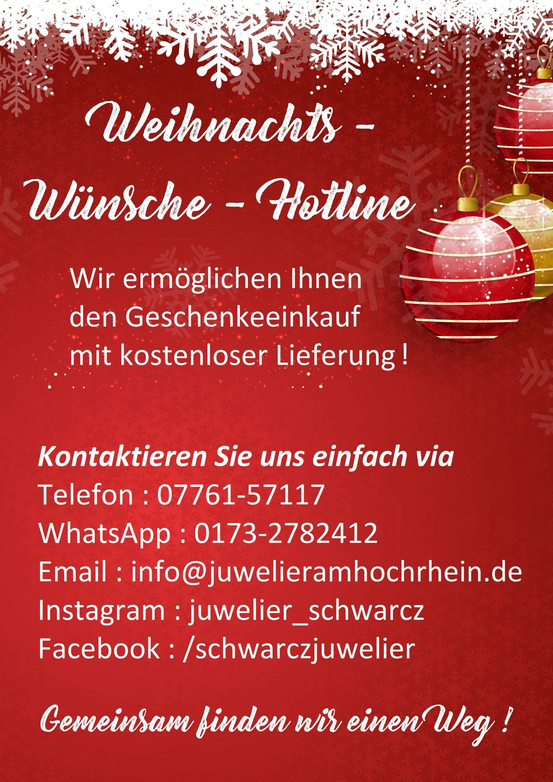 Weihnachts Wünsche Hotline 16.12